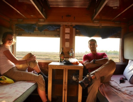 Sleeper Train Cabin Yangon to Bagan