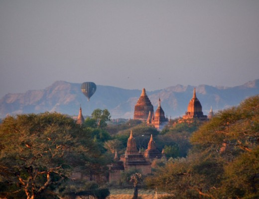 Bagan temples Myanmar at sunrise
