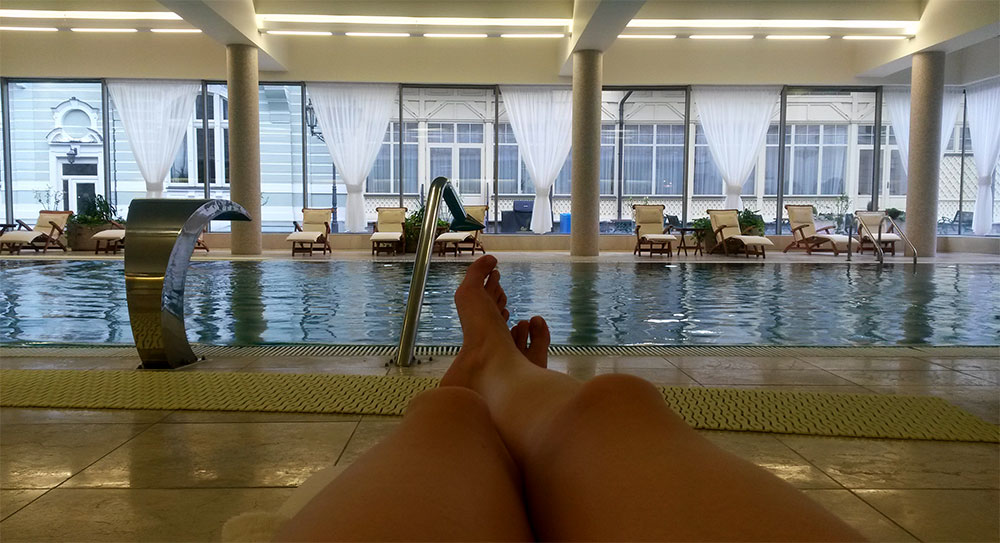 Relaxing at the Savoy Westend Karlovy Vary