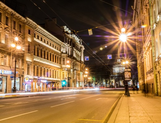 Nevsky Prospekt St Petersburg at Night