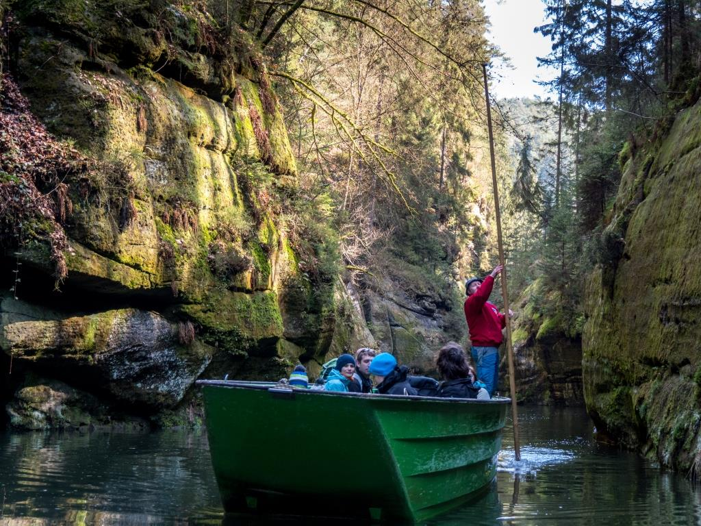 Kamenice River Boat Trip Bohemian Switzerland National Park Czech Republic