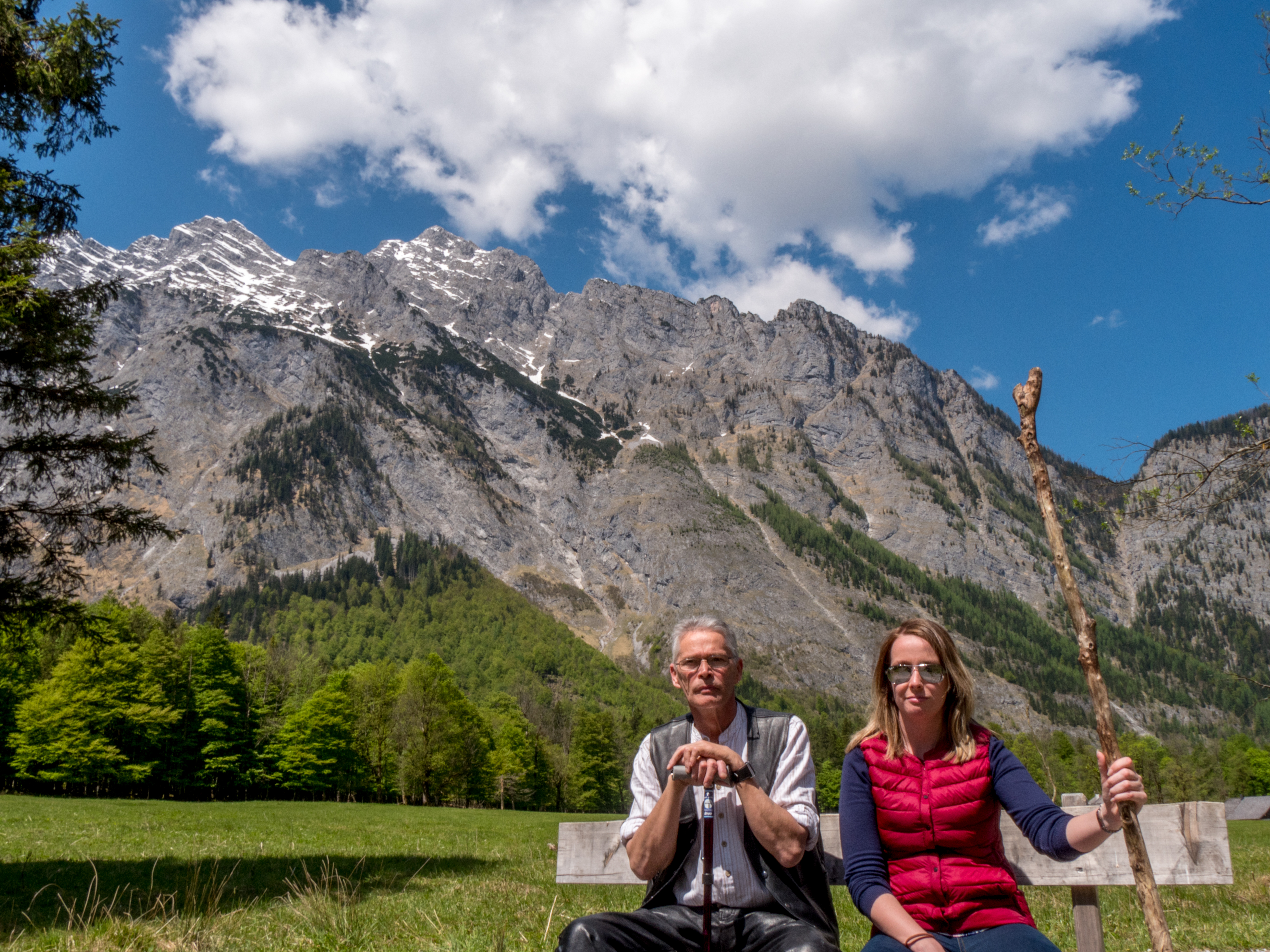 Father and I at the base of the Alps in Konigsee Lake in Germany