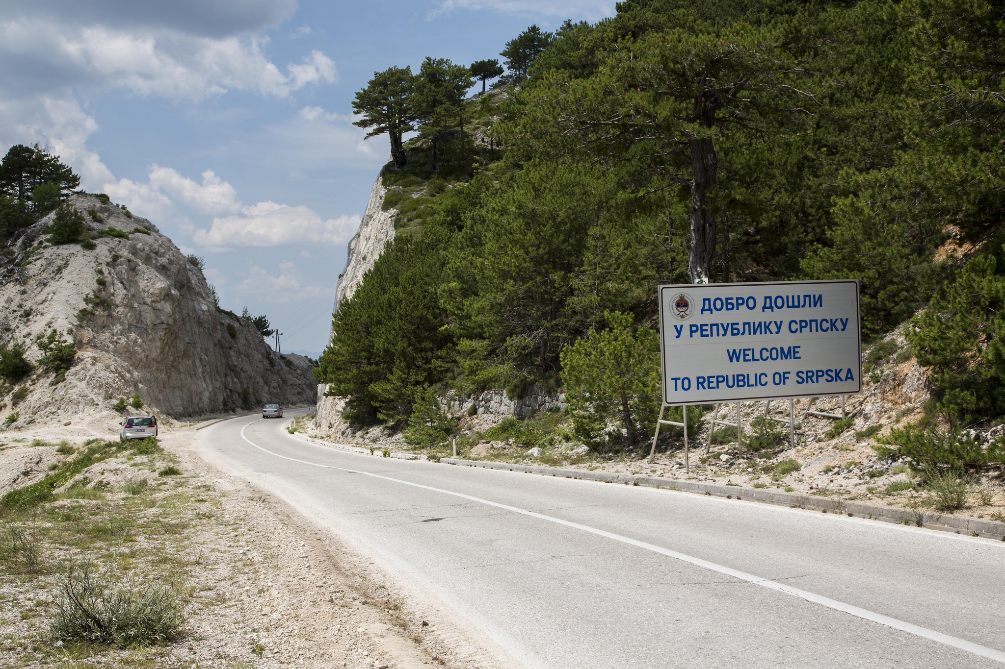 Welcome to Bosnia - An Example of the roads and driving conditions in Bosnia