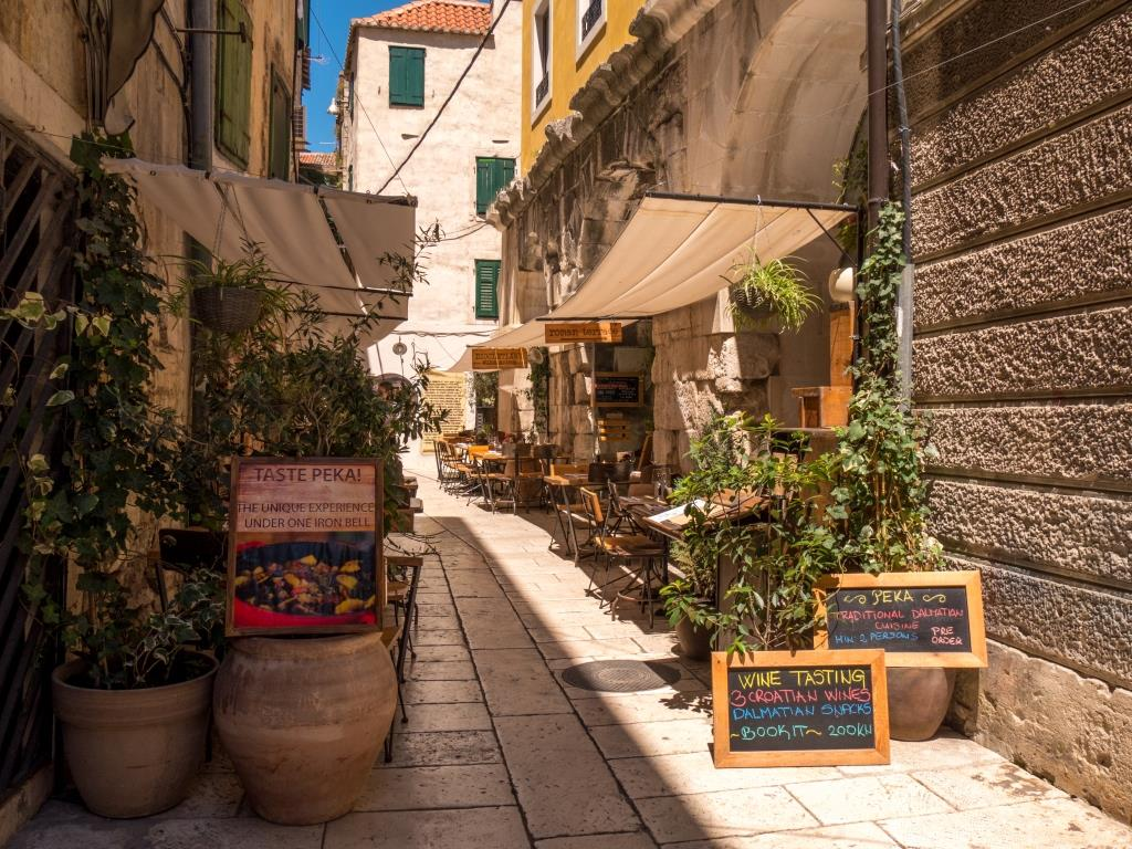 Streets of Split Croatia