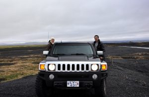 The Wandering Wanderluster's Hummer in Iceland