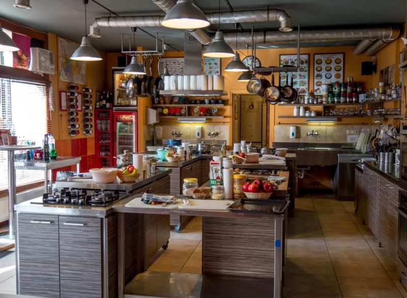 Chef Parade's kitchen in Budapest