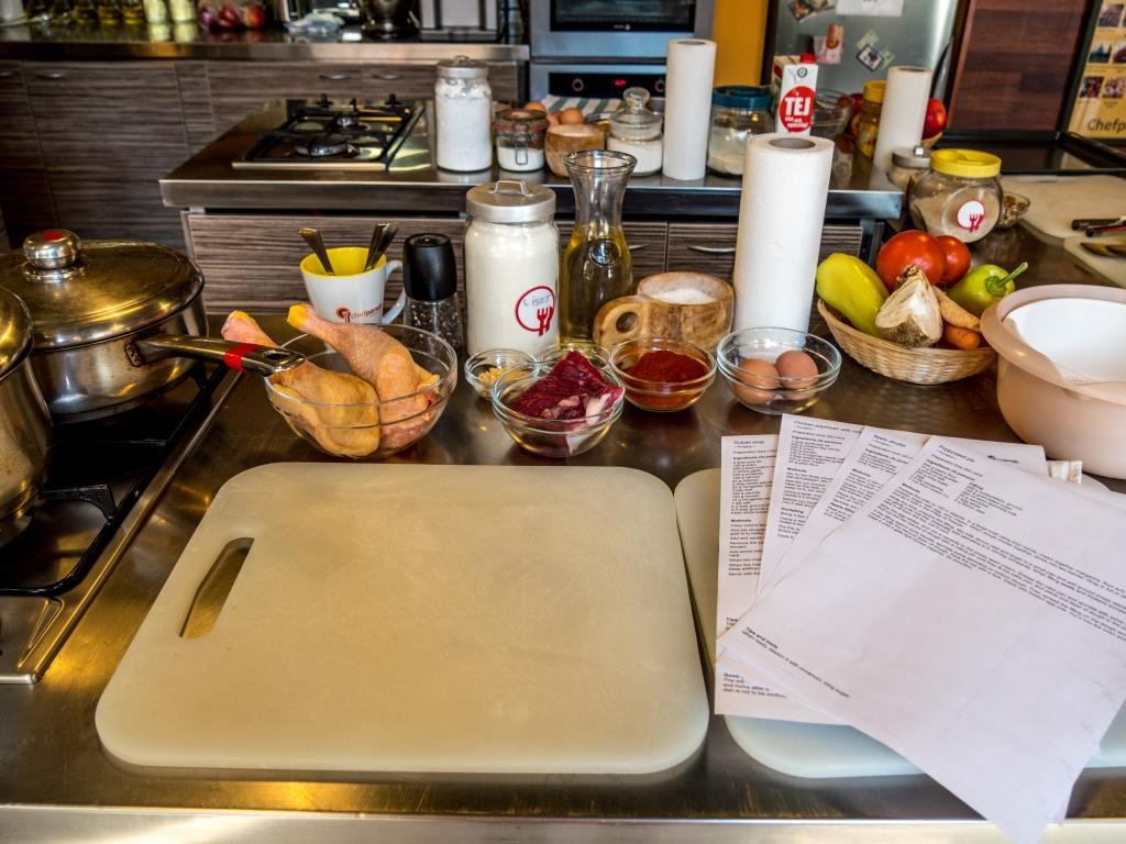 Recipes & Ingredients at Chef Parade Cooking Classs in Budapest