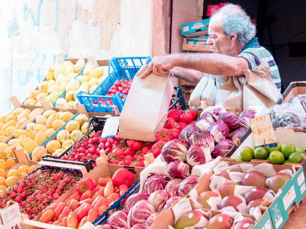Siracusa Market - Vegetable Stall Sicily