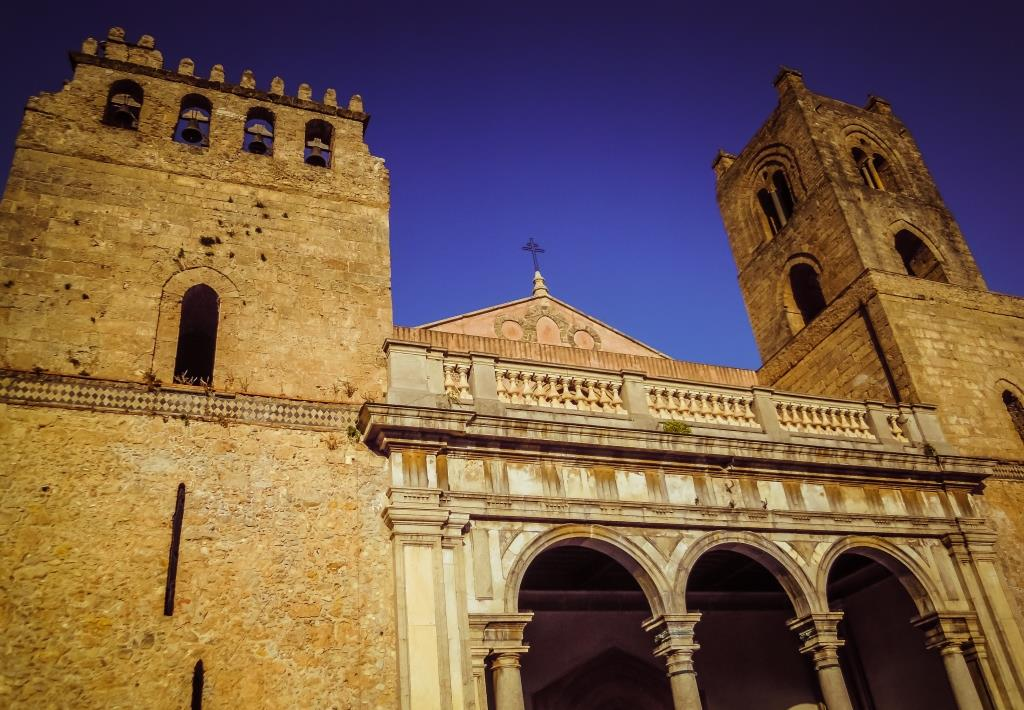 Exterior of Monreale Cathedral Sicily Italy