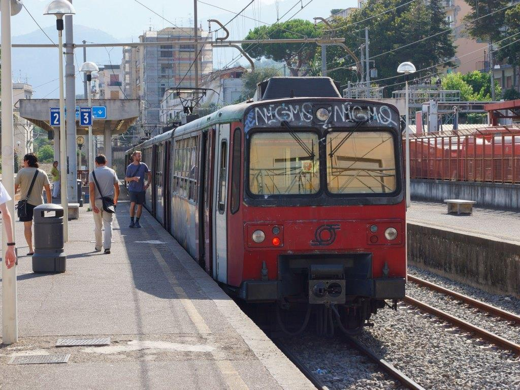 Naples to Sorrento by Circumvesuviana Train