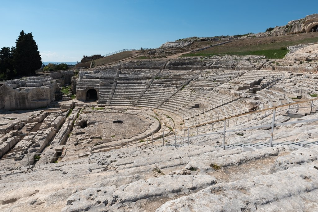 Greek Amphitheater Siracusa one of the best places to visit in Sicily