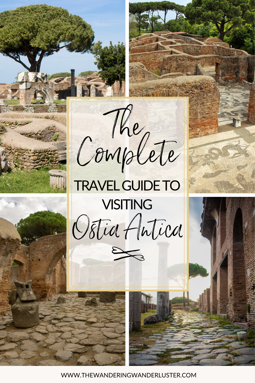 Complete Guide to Ostia Antica from Rome | Day Trip from Rome | Ostia Antica Roman Port | Ostia Antica Ancient Harbor