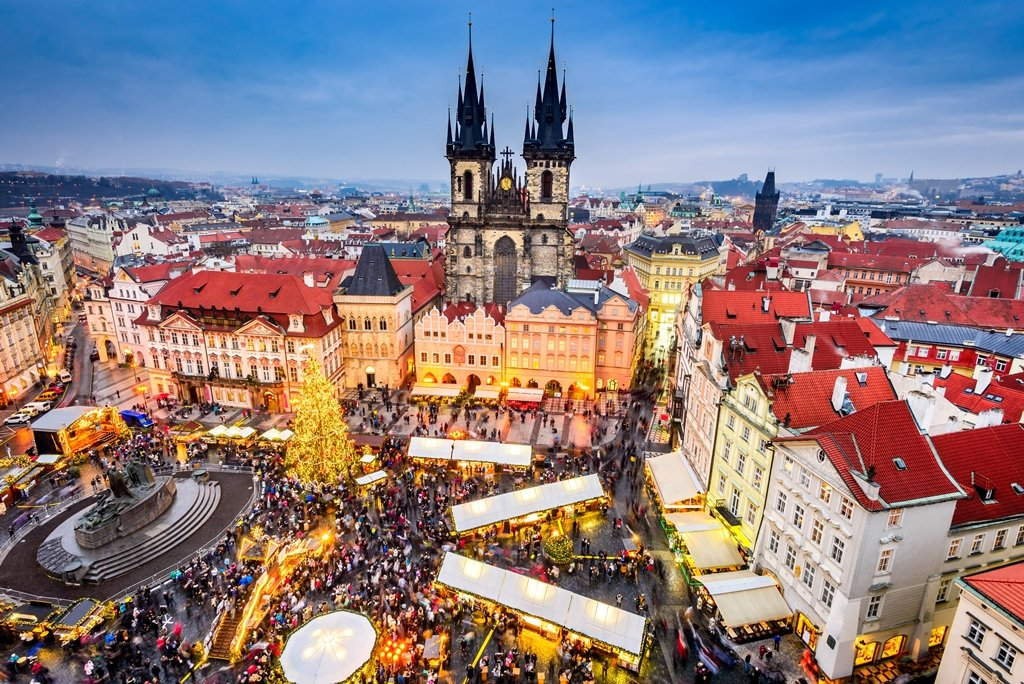 Old Town Square Prague Christmas Market 2020