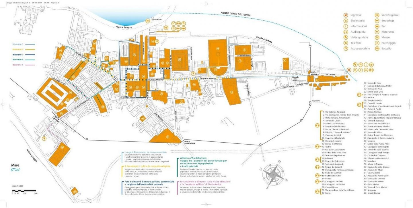 Full visitors map to Ostia Antica