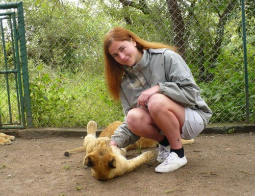 Anna Everywhere with a Lion