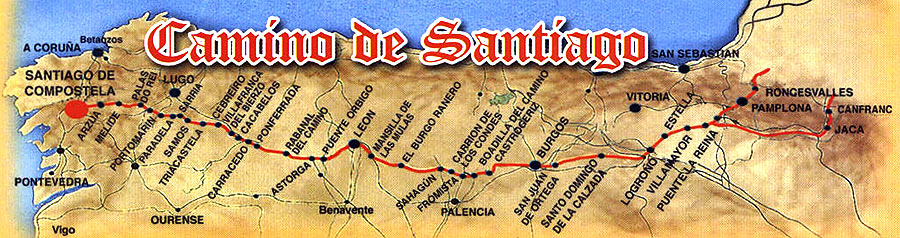 Camino-De-Santiago Route Map