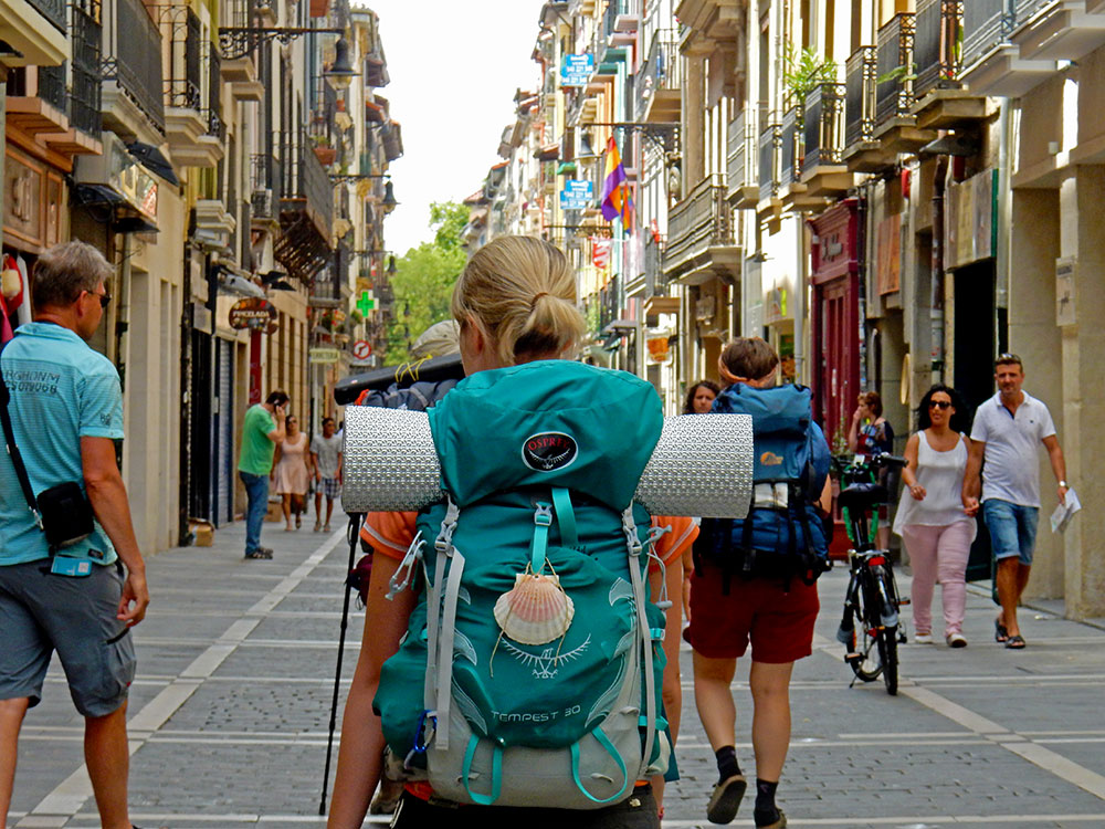 My backpack in Pamplona