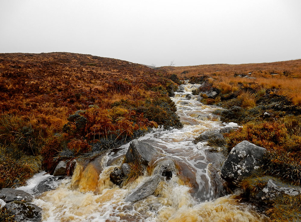 Waterfall in Wicklow Mountains National Park