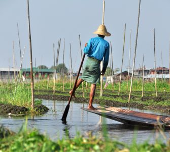 Man on Inle Lake Myanmar