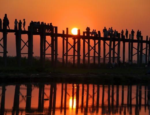 U Bein Bridge, Amarapura Mandalay