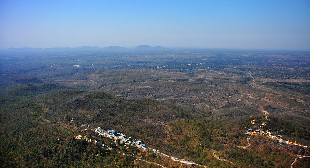 The View From The Top Of Mount Popa in Myanmar © Samantha Hussey   The Wandering Wanderluster