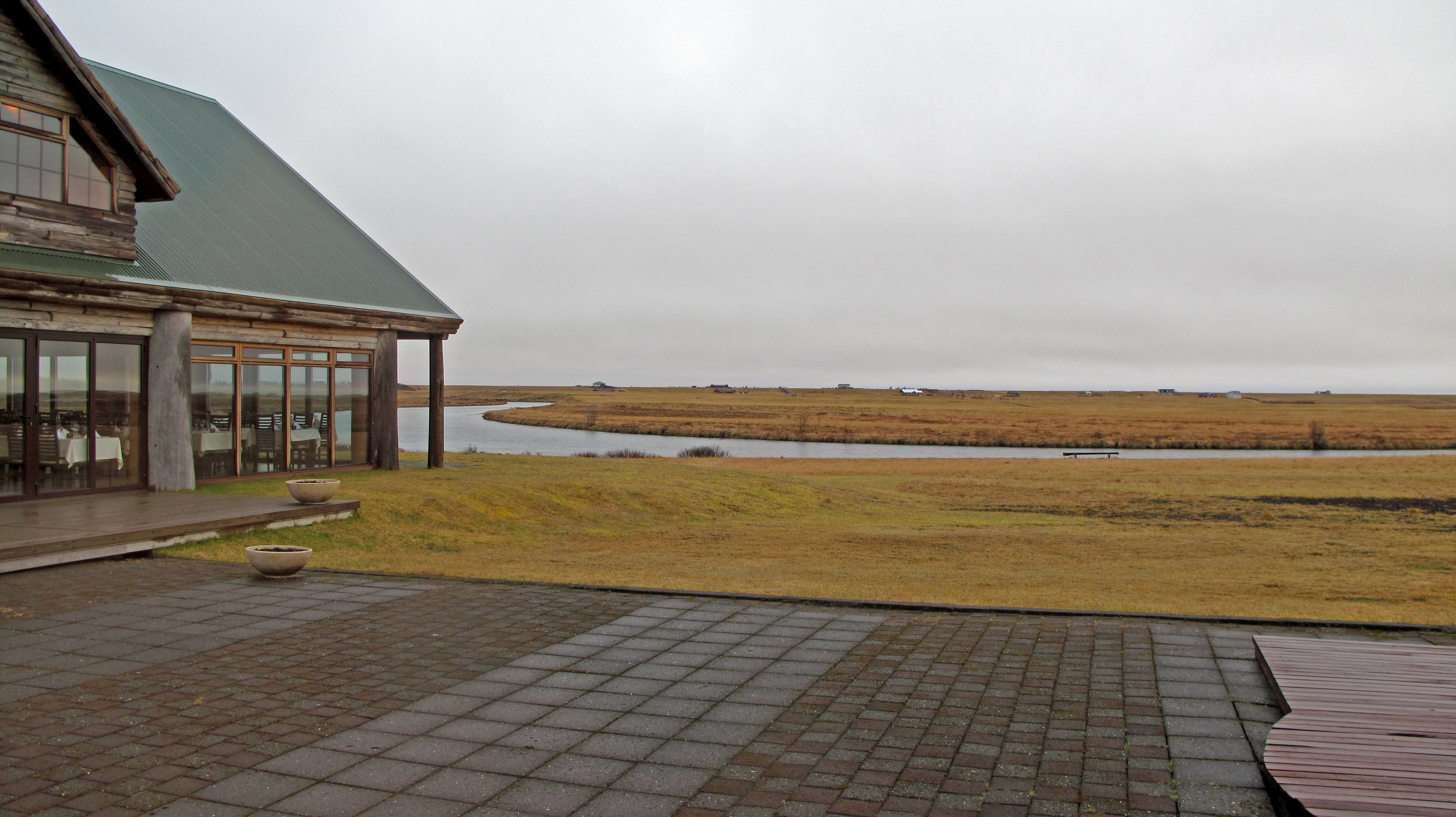 View of the Salmon River from Hotel Ranga in Southern Iceland © The Wandering Wanderluster www.thewanderingwanderluster.com