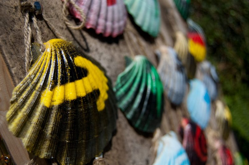 Shells on the Camino de Santiago. Full Photo Credit to Jesús Pérez Pacheco from Flicker.com