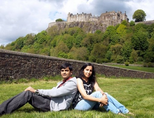 Country Hopping Couple at Stirling Castle, Scotland