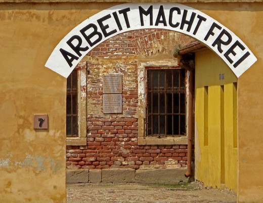 Terezin-concentration-camp-courtyard-sign-3