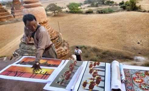 Sand Paintings in Bagan. Photo Credit to The Working Traveller